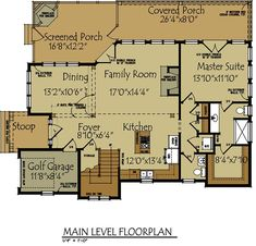 Lake Cabin Home Plans Small Cottage Floor Plan Max Fulbright Designs Design Open Living With Porches Cottage Floor Plans, Cabin House Plans, Cabin Floor Plans, Cottage Plan, Small House Plans, River Cottage, Lake Cottage, River House, Rustic Cottage