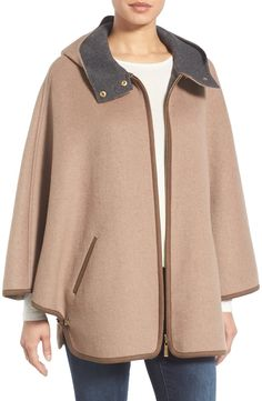 Main Image - Ellen Tracy Double Face Cape Coat (Regular & Petite)