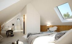 Attic Bedrooms, Master Bedroom, Style At Home, House Made, New Room, Sweet Home, New Homes, Home And Garden, Loft