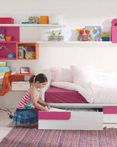 La habitación que evoluciona con tu hija. Desde los 6 a los 12 años. Colección Ringo de Kibuc