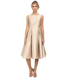 Adrianna Papell Women's Sleeveless Tea Length Dress Champ…