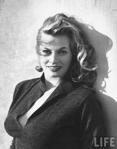 "letsgoadulthood: "" Alan Grant for LIFE Magazine Swedish movie actress Anita Ekberg. ~Los Angeles, Ca., September 1951 """