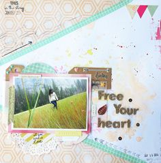 """Layout """"Free your heart"""" by byPeonia at @studio_calico"""