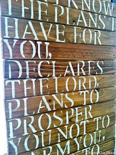 Scripture Wood Sign