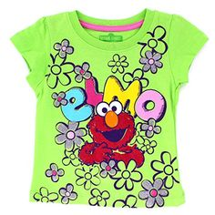 Sesame Street Elmo Girls Short Sleeve Tee T-Shirt Top. www.YankeeToyBox.com #yankeetoybox #ytb #sesamestreet #elmo
