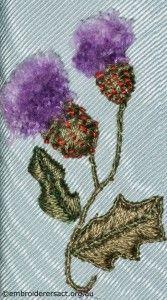 Purple Flower on Hexagonal Box by Pat Bootland