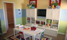 Would your children enjoy this colorful playroom?