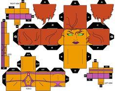 #Cubee #Craft #Fan #Art. (Cubee Craft Starfire DC Super Heroes) By: Handita2006. ÅWESOMENESS!!!