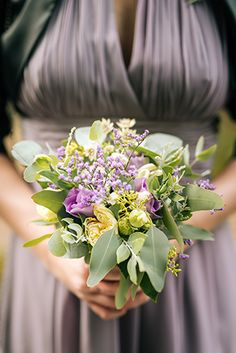 grey-violet rustical bouquet