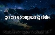 go on a stargazing date.
