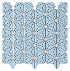 Ceramic Mosaic Tile Flower Vintage Blue for kitchen backsplash