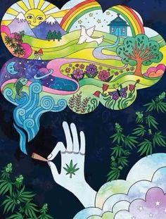 It's fun to imagine things when stoned weedporn weed marijuana pot cannabis stonerwithaboner stoner stonermemes thc Hippie Painting, Trippy Painting, Arte Dope, Dope Art, Hippie Wallpaper, Trippy Wallpaper, Trippy Drawings, Art Drawings, Psychedelic Art