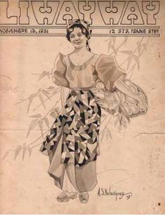 Illustrated by a Filipino artist, Velasquez.a weekly magazine. Sort of Collier or Saturday Post of yesteryears. Philippine Women, Philippine Art, Fashion History, Women's Fashion, Filipino Fashion, Filipino Art, Filipiniana, Tagalog, Historical Pictures