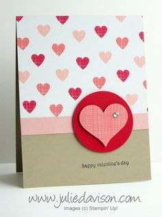 Stampin' Up! Stacked with Love Valentine's Day Card #occasions #stampinup www.juliedavison.com