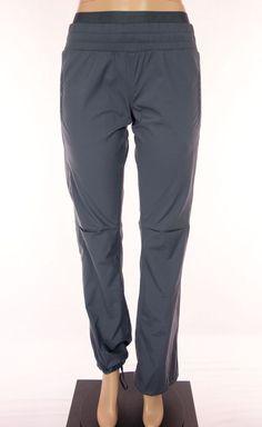 LULULEMON Signature Logo Waist Band Pants Size 6 S Small Gray Unlined Studio #Lululemon #PantsTightsLeggings
