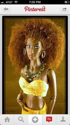 The Wee by CarmMeldoll Diva Dolls, Dolls Dolls, Barbies Dolls, Baby Dolls, African American Beauty, African American Dolls, Chic Chic, Pretty Dolls, Beautiful Dolls