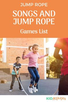 A collection of 25 jump games and song ideas for kids. Great for recess, at home, or gym class. #KidActivities #KidGames #ActivitiesForKids #FunForKids #IdeasForKids Outdoor Games For Kids, Fun Games For Kids, Games For Toddlers, Jump Rope Songs, Jump Rope Games, Fun Activities For Kids, Motor Activities, Best Jump Rope, Summer Party Games