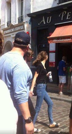 Paul, Eleanor and Louis in Paris today -S