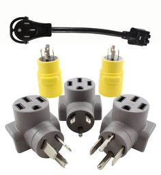 10-50 50A 3-Prong Straight Blade to Tesla AC WORKS EV Charging Adapter for Tesla Use