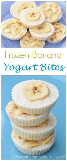 Quick and easy banana frozen yogurt bites