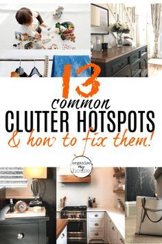 A fantastic roundup of all the clutter hotspots that are in our home - and some easy and quick tips for each one that will have you clutter-free asap! Declutter Your Home, Organizing Your Home, Organizing Tips, Organization Hacks, Hot, Helpful Hints, My House, Things I Want, Decluttering Ideas