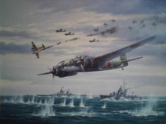 Saipan , 15 June 1944. A force composed of 10 P1Y Ginga , three D4Y and 11 Zero based at Yap Atoll and organized in two waves attack Task Group 58.2 and T. G. 58.3. 11 Jap. planes lost. By Marii Chernev
