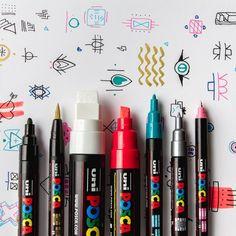 Olha aí os tipos de pontas da caneta mais versátil que existe! Você já testou todas? Qual sua favorita? Comenta aqui para a gente 😍🤗 Para saber mais sobre, acesse: posca.com.br/cores-e-pontas #POSCA   Foto: instagram.com/julie_caves Posca, Art Supplies, Disney Princess, School, Instagram, Murals, Types Of, Pictures, User Guide