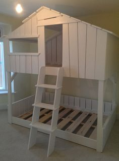 Childrens Bed Tree House Beach Hut Bunk Bed https://www.etsy.com/listing/196132397/high-sleeper-tree-house-bed-quality-hand
