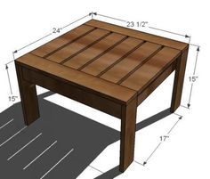 I want to make this!  DIY Furniture Plan from Ana-White.com  This simple little plan designed to be an ottoman for the outdoor sectional can also be grouped as a coffee table or used as an accent table. Modern style.