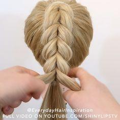 Hairdo For Long Hair, Easy Hairstyles For Long Hair, Up Hairstyles, Hair Ponytail Styles, Long Hair Styles, Hair Style Vedio, Hair Tutorials For Medium Hair, Girl Hair Dos, Hair Upstyles