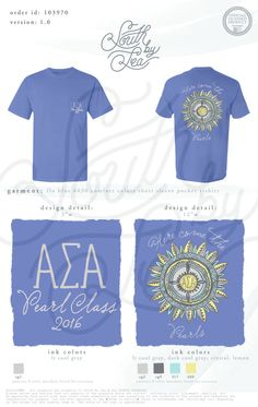 Alpha Sigma Alpha | Here Comes The Pearls | Peark Class | Tribal Sun Design | South by Sea | Greek Tee Shirts | Greek Tank Tops | Custom Apparel Design | Custom Greek Apparel | Sorority Tee Shirts | Sorority Tanks | Sorority Shirt Designs