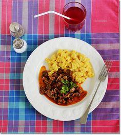 Zúzapörkölt tojásos nokedlivel Risotto, Ethnic Recipes, Food, Essen, Meals, Yemek, Eten