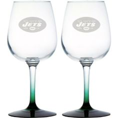 NFL New York Jets 12.75-Ounce Wine Glass Set by Boelter Brands. $19.99. Made in USA. Two 12.75-Ounce Wine Glasses. Officially Licensed Team Logo. NFL Oakland Raiders 12.75-Ounce Wine Glass Set