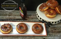 Bacon Maple Baked Doughnuts (Almost Voodoo Style) Baked Doughnut Recipes, Baked Doughnuts, No Bake Desserts, Dessert Recipes, Raised Donuts, Yummy Treats, Sweet Treats, Muffins, Baby Food Recipes
