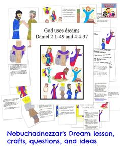 Nebuchadnezzar's dream is a fun lesson to talk about, so much imagery and fun crafts to complete together.