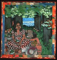 Picnic on the Grass Alone ~ Faith Ringgold
