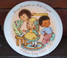 Vintage AVON Love Comes in All Sizes 1984 by PaintedOnPlaques, $5.00
