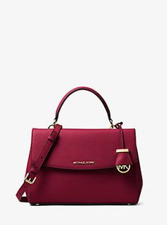 9a7b7c91d293 Ava Medium Saffiano Leather Satchel by Michael Kors Leather Satchel, Leather  Handbags, Satchel Purse