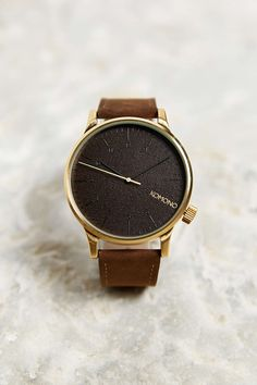 $90 KOMONO Winston Gold Wood Watch LINK http://www.urbanoutfitters.com/urban/catalog/productdetail.jsp?id=31285422&color=070&parentid=MORE_IDEAS#/