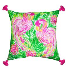 Products will begin shipping March 2017. Adorn your space with perfectly printed and detailed pillows suitable for any Lilly lover. - Coordinating design on back side - Weather resistant fabric for in