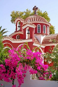 Monastery of Panagia Kaliviani, Crete, Greece Kreta, Grecja Places Around The World, Oh The Places You'll Go, Around The Worlds, Bougainvillea, Beautiful World, Beautiful Places, Simply Beautiful, Amazing Places, Crete Island