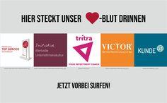 Hier steckt unser Herzblut drinnen.  Top Service Österreich Initiative Wertvolle Unternehmenskultur tritra victor Kunde 21 GmbH Chart, Indoor, Things To Do