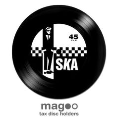 Magoo 060 Two Tone Ska Record Magnetic Tax Disc Holder: Amazon.co.uk: Car & Motorbike