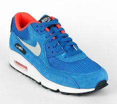 Nike Air Max 90 Essential   Dark Electric Blue / Light Stone   Anthracite