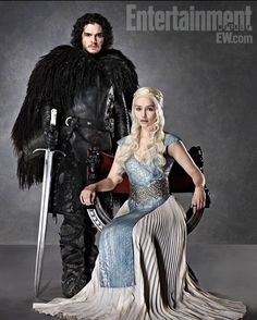 Jon Snow and Daenerys fot Entertainment Weekly - Game of thrones (tv series)