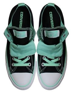 Converse Chuck Taylor Double Tongue Black Peppermint Ox Trainers. Converse  NereSneaker ConverseScarpe ... b69bdd94c77
