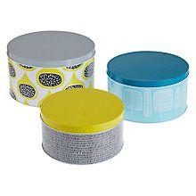 Buy MissPrint Cake Tins, Set of 3 Online at johnlewis.com