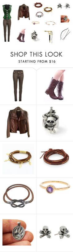 """""""Lost Girl: Neverland"""" by kuurama-chalifoux ❤ liked on Polyvore featuring Morgan, Kenneth Cole, Chan Luu, Hermès, Melinda Maria, King Baby Studio, Bow & Arrow and Bling Jewelry"""