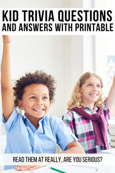 Kid Trivia Questions and answers with printable - With trivia leagues popping up in cities across the country, it's easy to get infected with quest - Family Game Night, Family Games, Trivia Questions For Kids, Are You Serious, Question And Answer, Boho Baby, Birthday Shirts, Going Out, Competition
