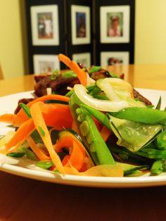 Crisp and refreshing salad of shredded and pickled vegetableas
